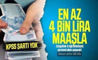 En az 4 bin lira maaşla Zonguldak Ereğli Belediyesi personel alımı yapacak! KPSS şartı yok! Başvuru şartları belli oldu!