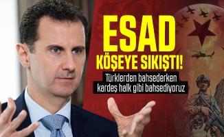 Esad köşeye sıkıştı: Türklerden bahsederken kardeş halk gibi bahsediyoruz!