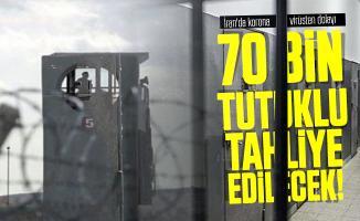 İran'da koronavirüsten dolayı 70 Bin tutuklu tahliye edilecek!