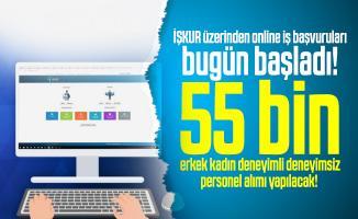 İŞKUR üzerinden online iş başvuruları bugün başladı! 55 bin erkek kadın deneyimli deneyimsiz personel alımı yapılacak!