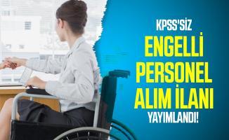 KPSS'siz İBB kariyer üzerinden engelli personel alım ilanı yayımlandı!