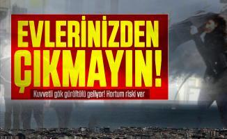 Meteoroloji az önce duyurdu: Uyarılar peş peşe geldi! Kuvvetli gök gürültülü sağanak yağış geliyor! Hortum riski var...