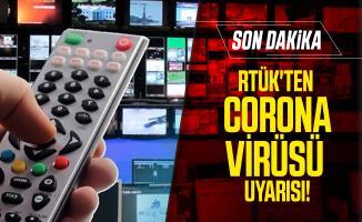 RTÜK'ten son dakika corona virüsü uyarısı!