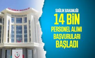 Sağlık Bakanlığı 14 bin personel alımı Resmi Gazete'de yayımlandı! Sağlık Bakanlığı personel alımı başvuru tarihi ve kadro dağılımı açıklandı