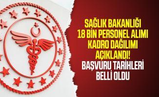 Sağlık Bakanlığı 18 bin personel alımı kadro dağılımı açıklandı! Sağlık Bakanlığı 2020/5 personel alımı başvuru tarihleri belli oldu