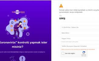 Sağlık Bakanlığı Online Korona Virüsü testi uygulaması web sitesi açıldı