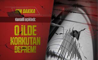 Son dakika Kandilli açıkladı: Türkiye'de o ilde korkutan deprem!