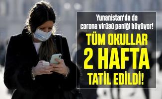 Türkiye'nin sınır komşusu Yunanistan'da da corona virüsü paniği büyüyor! Tüm okullar 2 hafta tatil edildi!