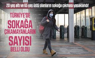 20 yaş altı ve 65 yaş üstü olanların sokağa çıkması yasaklandı! Türkiye'de sokağa çıkamayanların sayısı belli oldu