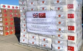 Cumhurbaşkanı Erdoğan'ın talimatıyla İngiltere'ye ikinci defa tıbbi yardım malzemesi gönderildi!