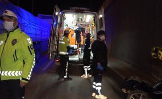 Denizli'de motosiklet kazası! 1 kişi hayatını kaybetti