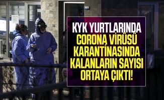 KYK yurtlarında corona virüsü karantinasında kalanların sayısı ortaya çıktı!