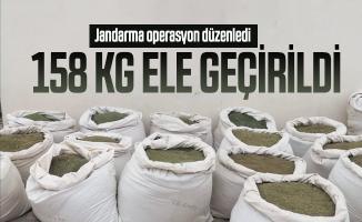 Son dakika Jandarma operasyon düzenledi: 158 kg ele geçirildi!