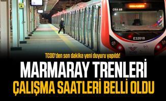TCDD'den son dakika yeni duyuru yapıldı! Marmaray trenleri çalışma saatleri belli oldu