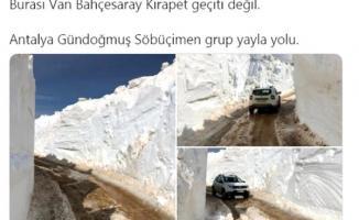 Vali Karaloğlu Antalya'da ki metrelerce kar görüntülerini yayınladı!