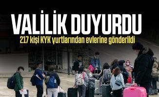 Valilik duyurdu! 217 kişi KYK yurtlarından evlerine gönderildi