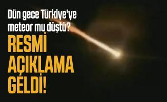 Dün gece Türkiye'ye meteor mu düştü? Ege Üniversitesi'nde öğretim üyesinden resmi açıklama!