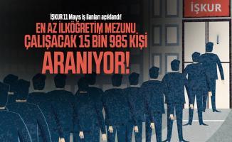 İŞKUR 11 Mayıs iş ilanları açıklandı! En az ilköğretim mezunu çalışacak 15 bin 985 kişi aranıyor!