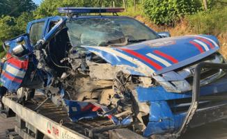 Ordu'da jandarma aracı kaza yaptı! 2 asker yaralandı