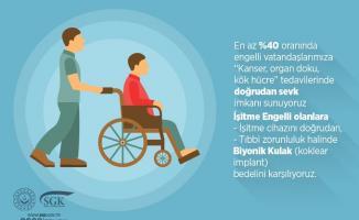 SGK'dan tüm yüzde 40 engelli olan vatandaşlara müjde!