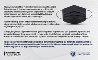 Ticaret Bakanlığı tarafından bez maskelere ilişkin kamuoyu bilgilendirmesi yapıldı!