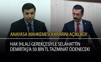 Anayasa Mahkemesi Selahattin Demirtaş ve Eren Erdem hakkında kararını açıkladı!