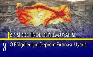DEÜ'den O bölgeler için 6.5 şiddetinde deprem uyarısı!