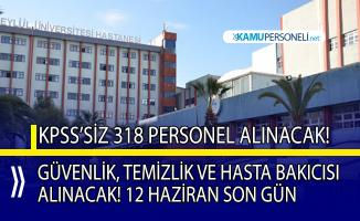 Hastaneye 318 personel alınacak! Güvenlik görevlisi, temizlik personeli ve hasta bakım elemanı alım ilanı!
