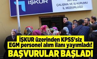 İŞKUR üzerinden KPSS'siz EGM personel alım ilanı yayımladı! Başvurular başladı