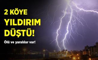 Erzurum'da iki mahalleye yıldırım düştü!