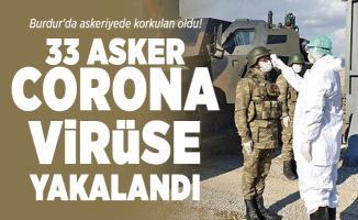 Burdur'da askeriyede korkulan oldu! 33 Asker corona virüse yakalandı