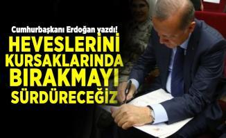 Cumhurbaşkanı Erdoğan yazdı! Heveslerini kursaklarında bırakmayı sürdüreceğiz