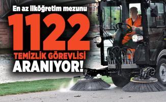 En az ilköğretim mezunu 1122 temizlik görevlisi aranıyor!