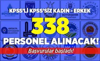 İŞKUR açıkladı! SYD Vakıflarına ve belediyelere KPSS'li KPSS'siz 338 kadın erkek personel alımı yapılıyor! Başvurular başladı!