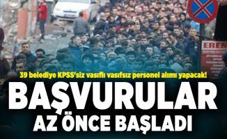 İŞKUR üzerinden 39 belediye KPSS'siz vasıflı vasıfsız personel alımı yapacak! Başvurular başladı