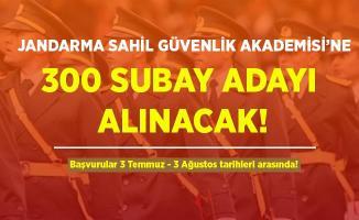 Jandarma ve Sahil Güvenlik Akademisi'ne 300 subay adayı alınacak! Başvurular 3 Temmuz'da başlayacak!