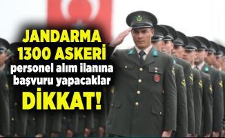 Jandarma 1300 askeri personel alım ilanına başvuru yapacaklar dikkat!