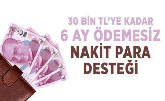 Kamu bankası resmen duyurdu! 30 bin TL'ye kadar 6 ay ödemesiz nakit para desteği