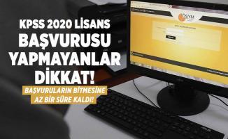 KPSS 2020 Lisans başvurusu yapmayanlar dikkat! Başvuruların bitmesine az bir süre kaldı!