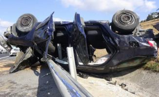 Silivri TEM Otoyolu'nda feci kaza! 1ölü 3 yaralı