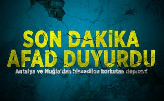 Son dakika AFAD duyurdu: Antalya ve Muğla'dan hissedilen korkutan deprem!