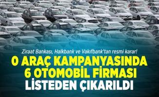 Ziraat Bankası, Halkbank ve Vakıfbank'tan resmi karar! 6 otomobil firması listeden çıkarıldı