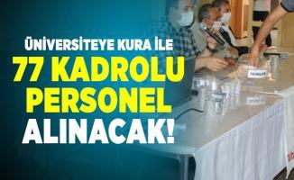 Zonguldak Bülent Ecevit Üniversitesi en az lise mezunu kura ile 77 kadrolu personel alacak!