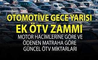 Arabalara Ek ÖTV Zammı geldi! Otomobil fiyatlarına uygulanan güncel ÖTV miktarları
