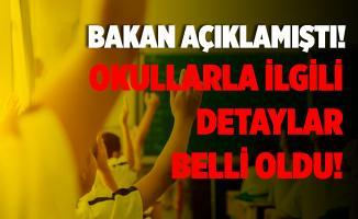 Bakan Selçuk okulların 21 Eylül'de açılacağını duyurmuştu! Detaylar belli oldu!