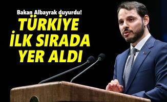 Bakan Albayrak duyurdu! Türkiye ilk sırada yer aldı