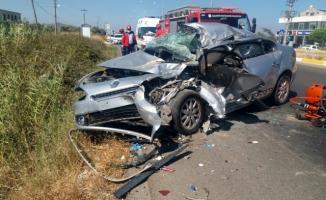 Balıkesir'de feci kaza! Baba öldü kızı ağır yaralı