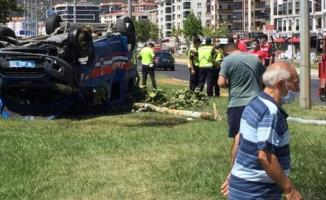 Balıkesir son dakika kaza haberi! 3 Jandarma yaralandı!