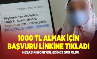 Bayrama özel 1000 TL sosyal yardım başvuru linkine tıklayan kadın hayatının şokunu yaşadı!
