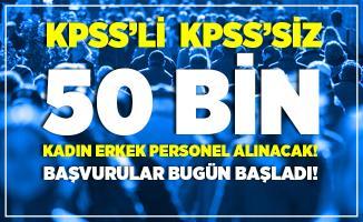 İŞKUR 9 Ağustos iş ilanları yayımlandı! KPSS'li KPSS'siz kadın erkek 50 bin personel alımı yapılacak! Başvurular bugün başladı!
